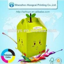 Small Cute Printed Paper Box Christmas Apple Gifts Box