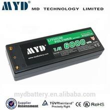 lithium battery 7.4v 6ah 40C lipo battery model car battery