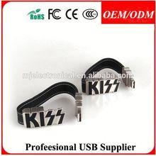 custom logo leather usb flash drive 2g 4g 8g , business gift 2gb usb flash pen drive