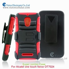Defender case with kickstand for Alcatel one touch fierce OT7024, Super Combo case for Alcatel one touch