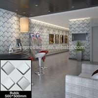 Rubik front desk decor 3d wallpanels