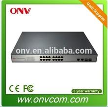 16 ports 10/100Mbps POE Ethernet/network siwtch