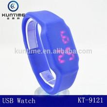 Super hot time storage 8G USB watch convenient wristwatch