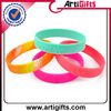 Wholesale cheap custom two color silicone bracelet