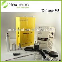 High quality dry herb vaporizer kit clover Deluxe V5 Vape pen wholesale