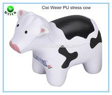 10.8x5.1x8.8cm cow shape PU stress ball/soft toy PU foam cow for kids&adults/animals soft foam PU stress cow