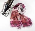 Venta caliente 70% modal y 30% de tela de lana de moda impresa bufanda del lazo