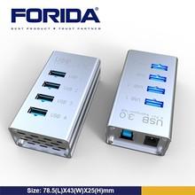 Forida multi port usb hub, usb hub charger, usb root hub driver