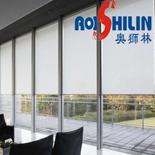 fabric for roller blinds as pvc/polyester coated fabric
