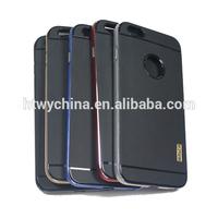 Alibaba beautiful mobile phone covers Aluminum bumper+Silicone case TPU for IPhone6