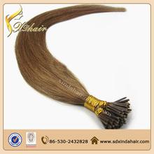 keratin fusion tip 100% remy human hair 0.5cm keratin tip mini I tip hair extension
