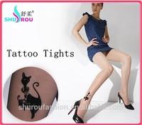 20D Printing tattoo cartoon pantyhose japanese stockings anime