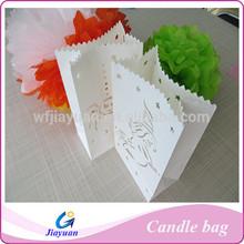 Big Heart pattern flame retardant Paper Candle Bag, Luminary, Wedding Decoration Favor