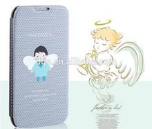 hard cover for samsung i9300/i9500/i9600/i9082/N7100/N9006/Note3 mini/Note4/G7106 Hot Sale angel wings pu flip mobile phone case