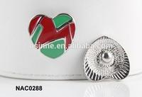 STOCK heart snaps bracelets ginger snaps jewelry NAC0288