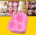decorativa silicone 3d fondant rosa molde
