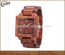 Wooden wrist watch customized logo japenese movt