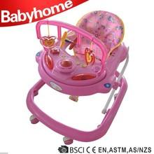 EN1273 certificate car shape babyhome big baby walker with safety belt