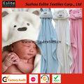 lindo paño grueso y suave polar con apliques de animales toalla con capucha bebé manta