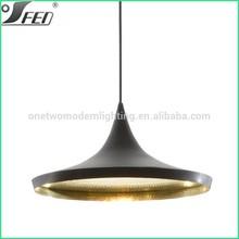 Elegant tom dixon lighting with gold black white grey colors