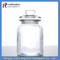 LongRun alibaba kitchenware whole sale glass jar salt container with mental lids