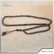 molto a buon mercato in bianco e nero elettrolitica acrilico 99 perle di preghiera acrilico perline musulmano