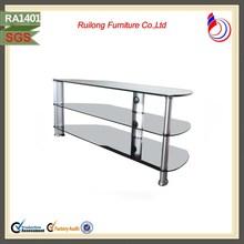 Modern elegant home furniture tempered glass corner tv stand RA1401