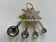 gingerbread man shaped stainless steel measuring spoon set