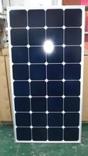 Stock !!! 100W/12v High efficiency 22% solar photovoltaic panel sunpower cell glass modules