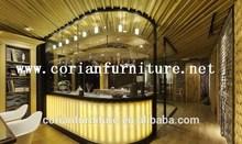 Designed led lighted hotel drink bar counter