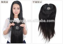 High Quality Mongolian Hair Full Handtied Human Hair Topper Wig for women