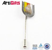 Wholesale promotion gold metal flat stamping logo key ring