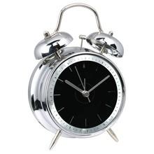 "4"" modern mirror design metal double bell alarm clock"