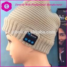 SHANGYU YIBOLI BRAND NEW FASHION 100% cotton knitted Winter Ski bluetooth headphone hat ( Skiing Bluetooth Beanie )