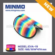 rainbow PU leather eve eyewear case for sunglass