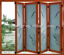 Chinese style Aluminum Glass folding door