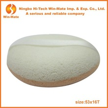 Round shape white and skin color latex sponge with ribbon