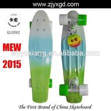 Fade printed Old school longboard Vintage Bantam cruiser skate board 22inch Penny style Vinyl cruiser