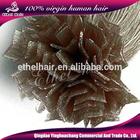 20inch Italian glue V tip blonde remy keratin brazilian fusion hair extension
