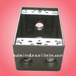 aluminum housing manufacturer with 2 inch depth, four holes, Aluminum