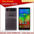100% Original Lenovo K920 VIBE Z2 Pro 5mp android 4.4 16mp camera mobile phone