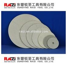 Diamond flexible polishing pads engineered stones