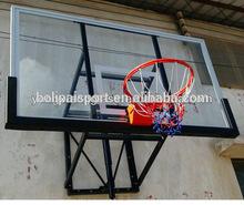 Guangdong China Good Quality Wall Mounting Tempered Glass Basketball Backboard Hoop