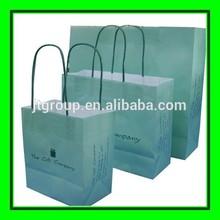 twist handle printing white kraft paper shopping custom gift bags