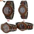 100% reloj de madera natural con el logotipo personalizado