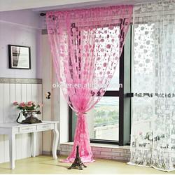 2015 Romantic Pink Tassel Line String Curtain Elegant Drapes Curtains for Window Vestibule Door