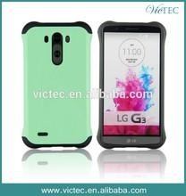 Fashion shock proof robot tpu+pc hybrid combo case for LG G3