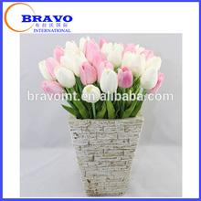 1 Piece Mini Artificial Flower wedding home garden decoration Tulip PU Flower