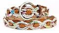 De cuero de moda cinturón delgado para las mujeres, deimpresión cinturón trenzado yj-bz0361