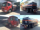 FAW petroleum tank truck, Sulfuric Acid,Hydrochloric Acid,Ammonia, 10000 liters chemical tanker truck